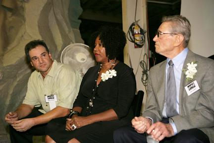 Mario Chiodo, Ruby Bridges, and Leon Lyson